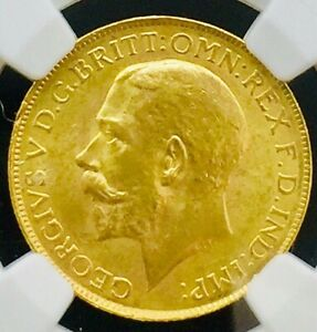 1927SA South Africa GREAT BRITAIN GOLD SOVEREIGN MS64 NGC