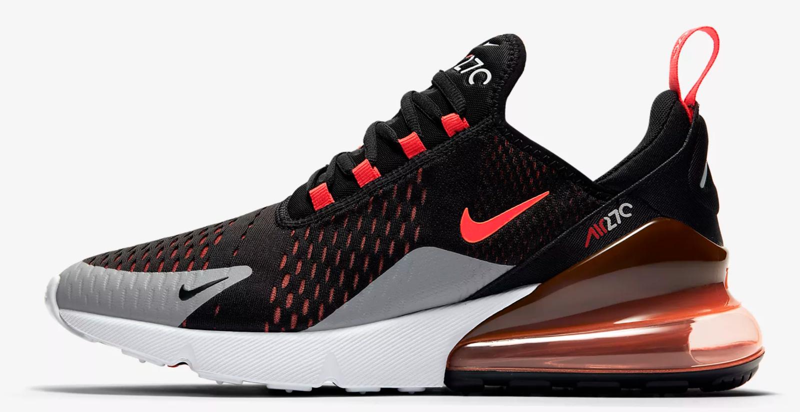 Nike Air Max 270 Noir / Crimson/ Wolf Gris