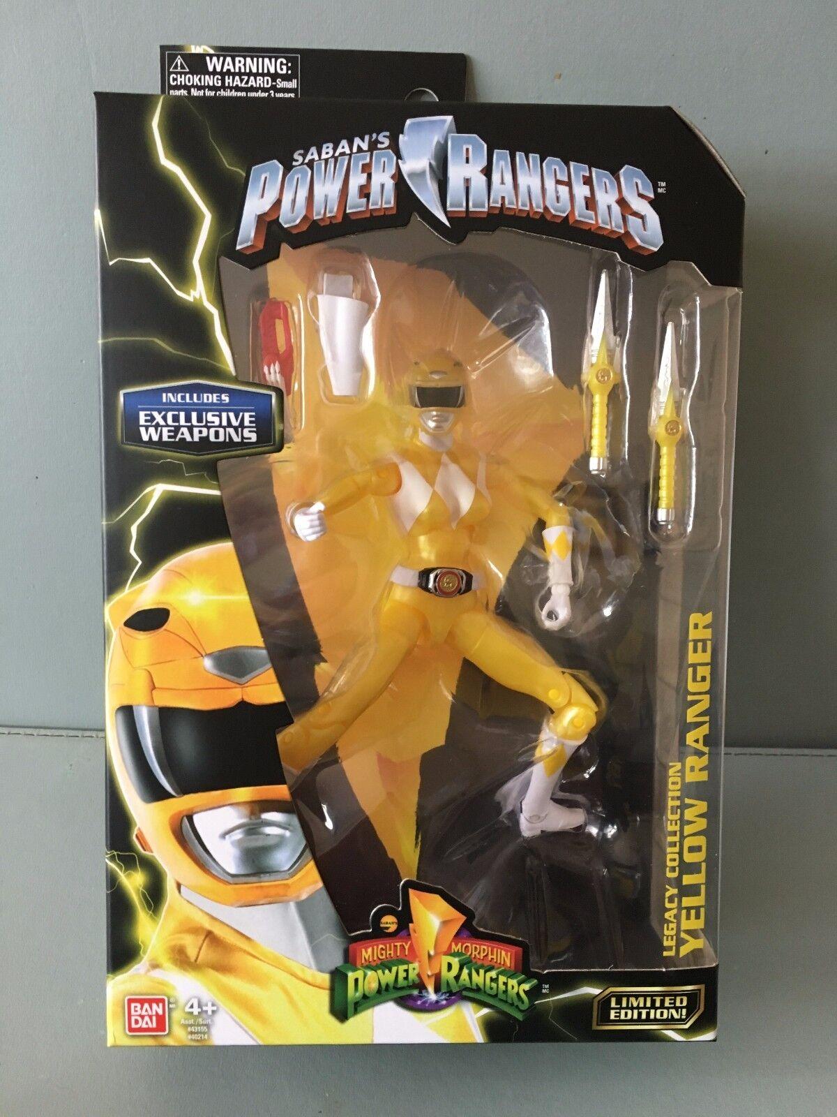 Power Ranger Legacy 16.5cm Metallic Yellow Ranger MISB  New in sealed box