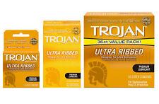 Buy Trojan Stimulations Ultra Ribbed Premium Lubricant Condoms 3ct