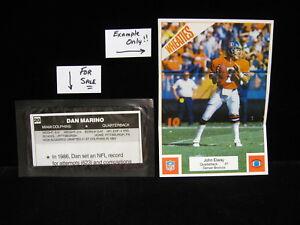1987-Dan-Marino-Dolphins-Wheaties-SEALED-NFL-Mini-Poster-5-034-x-7-034