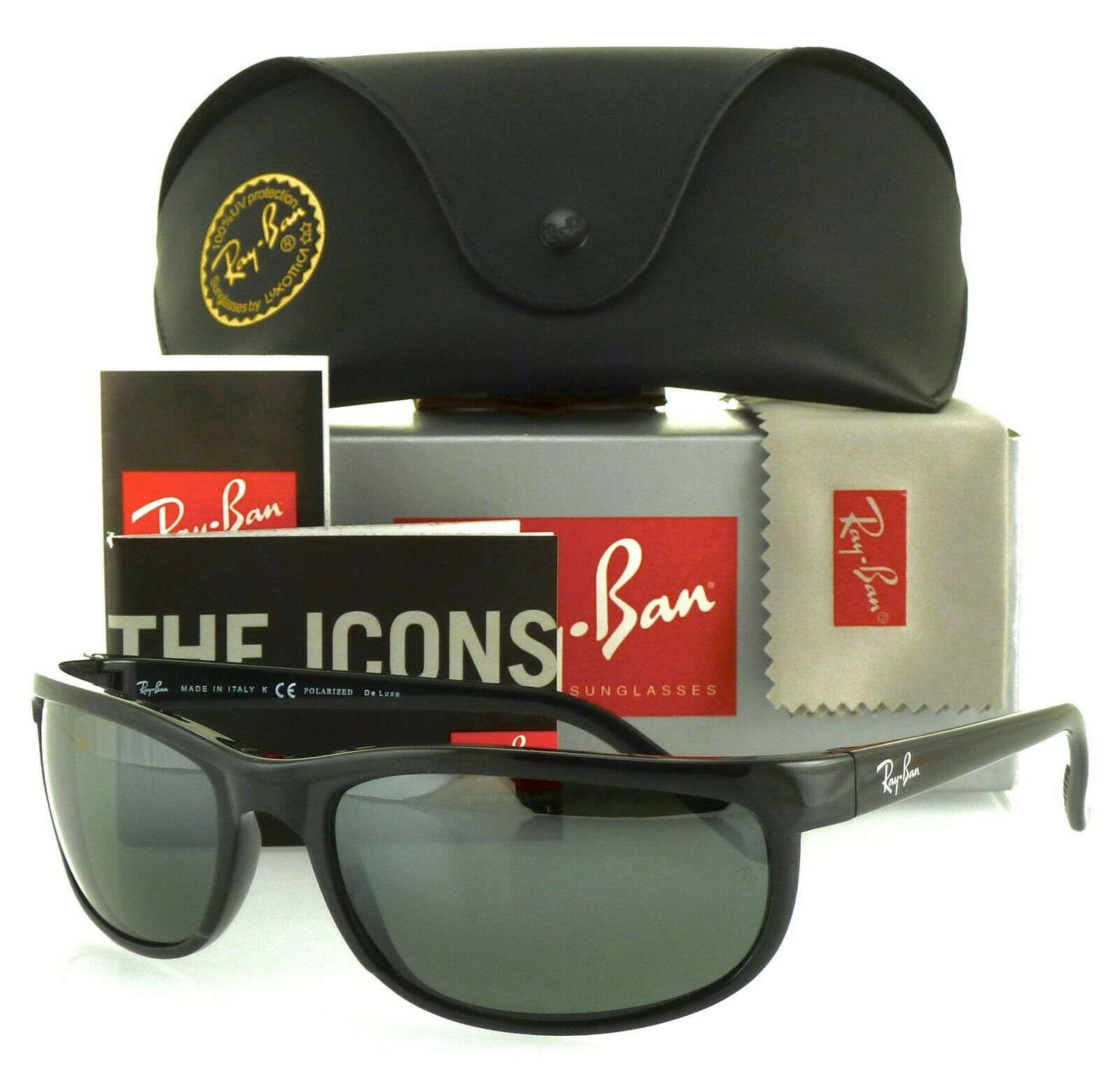 Ray Ban RB2027 601W1 62mm Predator 2 Black Dark Grey Polarized