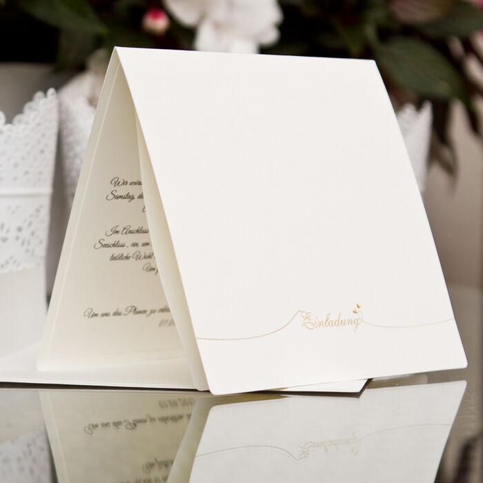 Einladungskarte Hochzeit HE057 mit Umschlag - Hochzeitseinladungen | Moderate Moderate Moderate Kosten  4c3035