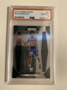 2017 Panini Prizm #24 De'Aaron Fox Kings RC Rookie PSA 10 GEM MINT