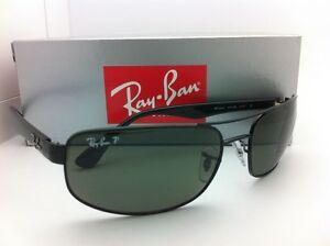 0651d78a06c Polarized RAY-BAN Sunglasses RB 3445 002 58 64-17 130 Black Frame w ...