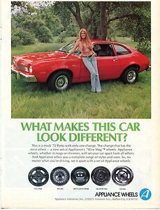 1974 print ad of appliance wire mag wheels on 1972 ford pinto w rh ebay com 1971 Ford Pinto 1972 ford pinto wiring diagram
