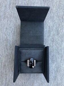 David-Yurman-Black-Onyx-And-Diamonds-Sterling-Silver-Ring-In-Size-6