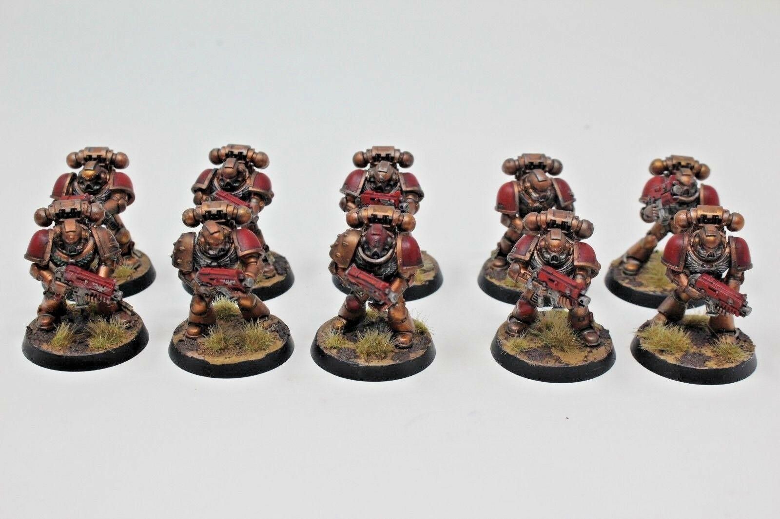 Warhammer Space Marines Tatical Squad Well Painted - WH2