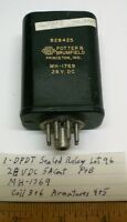 1 Sealed Relay Dpdt 5 Amp Contacts, 28 Vdc, P&b Mh1769, Lot 96, Made In Usa