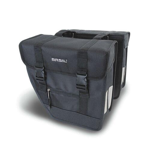 Black 26 L Basil Tour Rear Briefcase Double Pannier Bag Heavy Duty