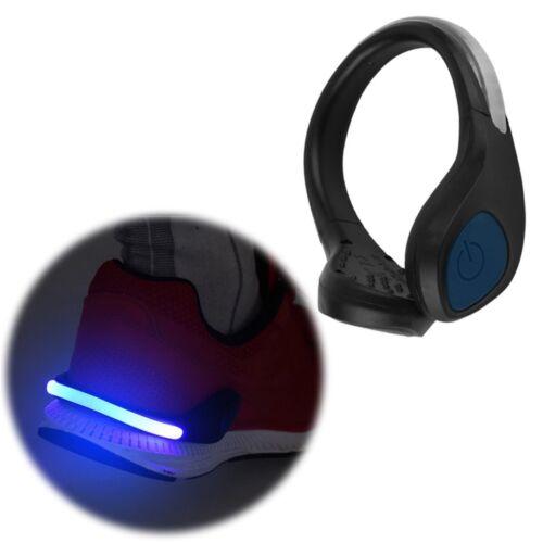 Blaue LED Schuh Licht Clip Super Bright Warnleuchte passt Nacht laufen GE