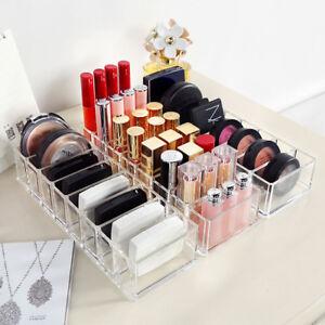 Clear-Acrylic-Makeup-Cosmetics-Case-Lipstick-Liner-Brush-Holder-Organizer-Drawer