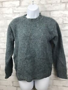 Leelanau-Trail-Mohair-and-Wool-Pullover-Sweater-Heathered-Blue-Women-039-s-Size-M