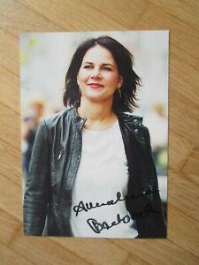 MdB Die Grünen Bundesvorsitzende Annalena Baerbock - handsigniertes Autogramm!!!