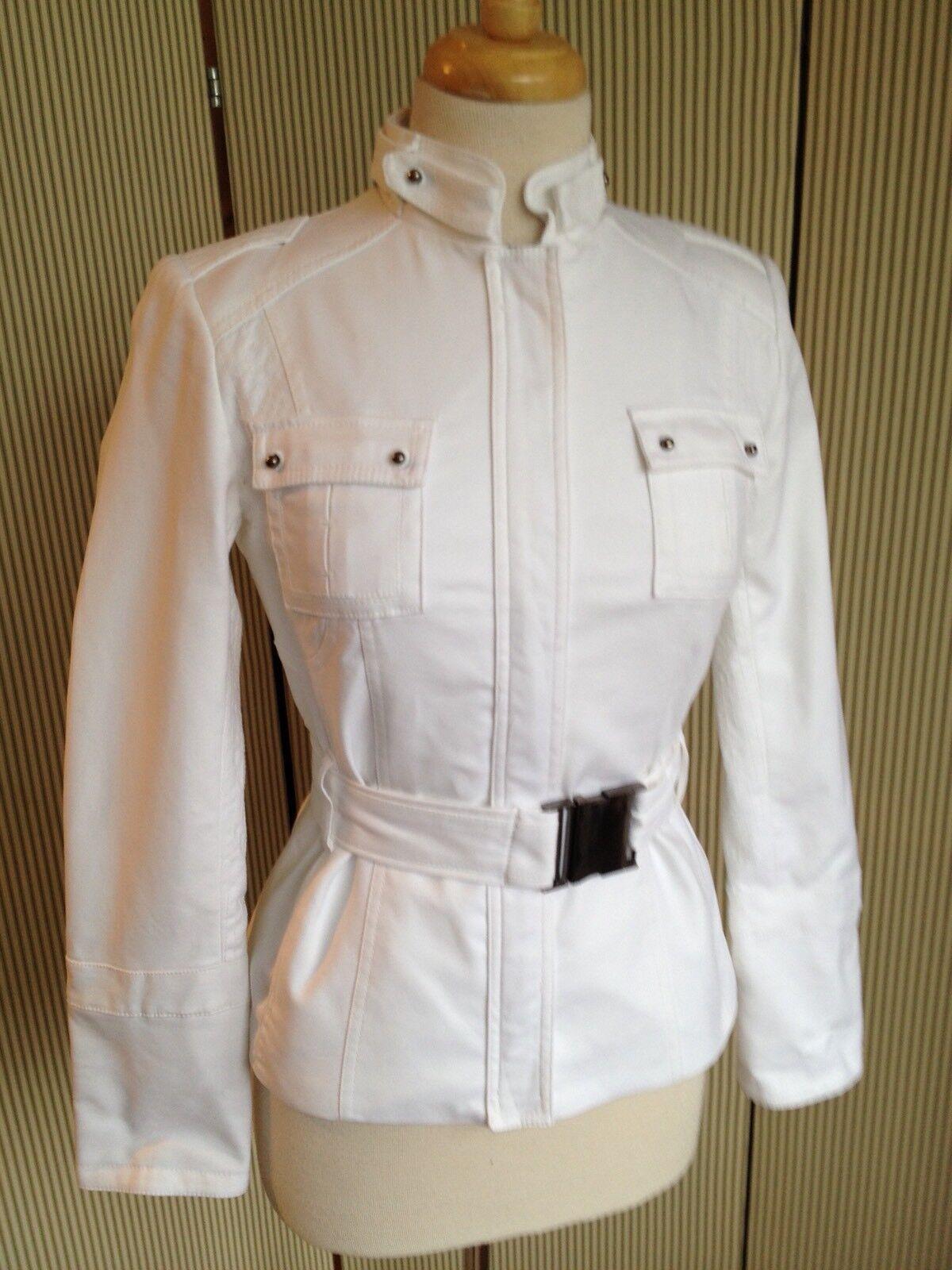 Woman Ajusté Ceinture À Excellent Zara Coton En Blanc Été W47grqpi4 erxWCdBo
