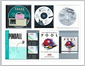 Old-Software-Programs-Lot-of-Five-5-Games-Pool-Pinball-amp-more-CDs-and-Disks