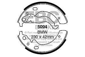 5094 Zapatos de Freno Trasero EBC Apto BMW 1500 1502 1600 1802 2000 2002