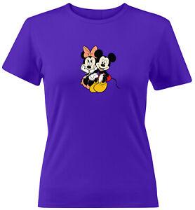 Minnie-Mickey-Mouse-Disney-Couple-Love-Gift-Juniors-Teen-Women-Tee-T-Shirt-S-2X