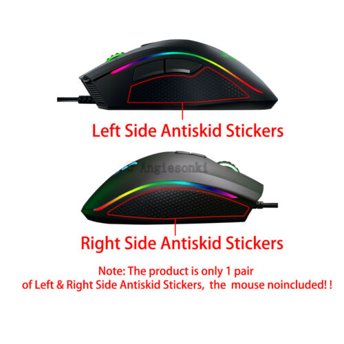 0.6mm New Mouse Side Panel Cover case Stickers Antiskid for Razer Mamba 5G mouse