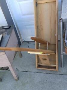 vintage fold out ironing cabinet board j f ebay. Black Bedroom Furniture Sets. Home Design Ideas