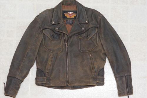 bruin logo Distressed jas Billings Winged Hd Harley Heren leren Davidson L tdxsBhrCQo