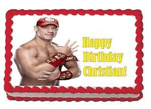 Superb John Cena Wwe Personalized Birthday Edible Image Cupcake Cake Personalised Birthday Cards Beptaeletsinfo
