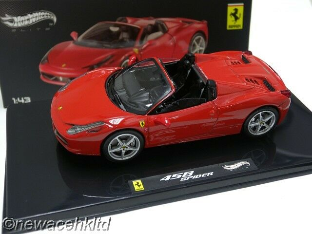 FERRARI 458 SPIDER RED ELITE HOTWHEELS 1 1 1 43  W1182 52fdb2