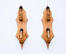 Taxidermy Deer Hoof Foot Feet Double Gun Rack on Beautiful Oak Plaques Gunrack