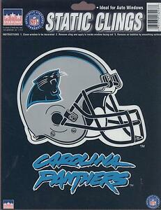 12 Carolina Panthers 6 inch Static Cling Stickers