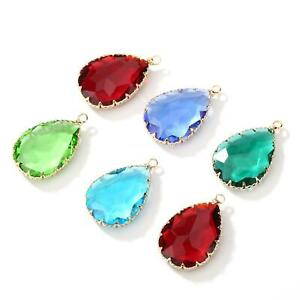 Enamel Charm Crystal Round Pendant DIY Earring Necklace Jewelry Making //1119
