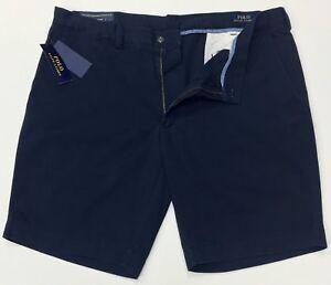 Ralph-Lauren-Men-039-s-Short-Chino-CLASSIC-FIT-9-034-Aviateur-Bleu-Marine-Tailles-54-W-56-W