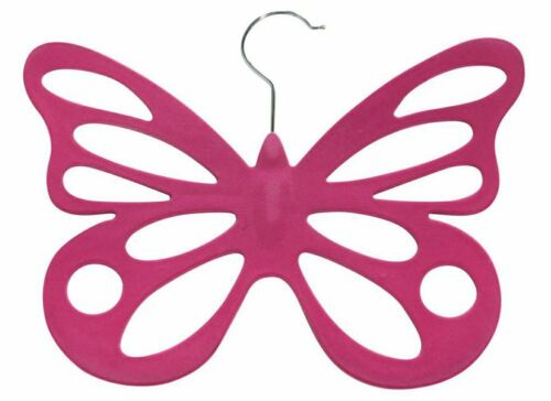 new Evelots 2 Velvet Butterfly Scarf Hangers Organize /& Store Scarves Pink
