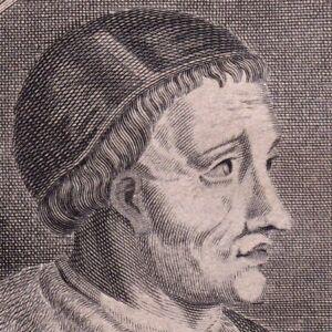 Portrait-XVIIIe-Pierre-d-039-Ailly-Petrus-De-Alliarco-Cardinal-Eveque-d-039-Orange