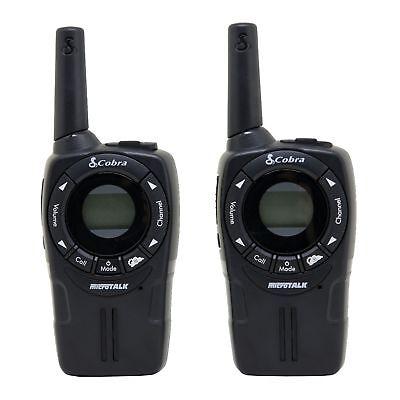 2) COBRA CXT225 MicroTalk 20 Mile GMRS/FRS 22 Channel 2-Way Radio Walkie Talkies