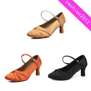Brand-New-Women-039-s-Ballroom-Latin-Tango-Dance-Shoes-heeled-Salsa-6-Colors-C13