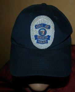 Polizei Mütze Helm Hut Base Cap Police Rocklin Californien USA