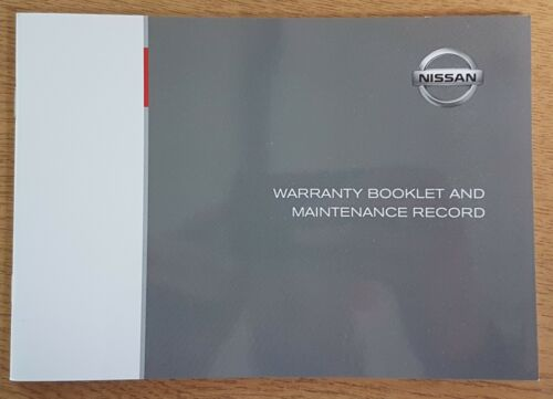GENUINE NISSAN SERVICE HISTORY BOOK FOR PETROL AND DIESEL BLANK PRINT 2017 #45