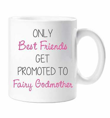 Mothers Day photo gift Friends promoted to Godmother Personalised Printed Mug