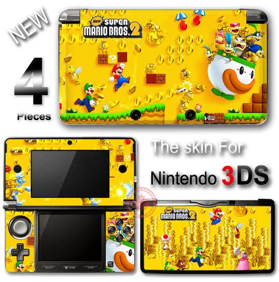 Super Mario New Bros 2 Cute SKIN VINYL STICKER DECAL COVER for Nintendo 3DS