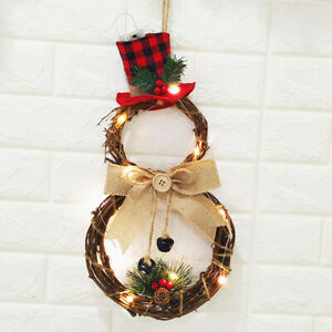 Christmas-LED-Wreath-Hanging-Xmas-Party-Door-Wall-Home-Decor-Garland-Ornament-CN