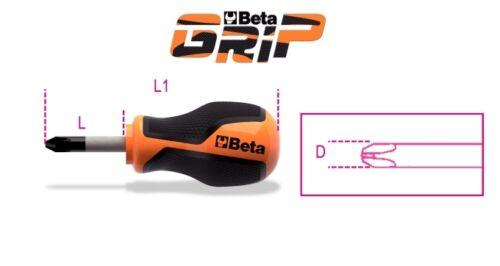 Extra-Short Beta Tools 1262N-Screwdriver For Cross Head Phillips Screws