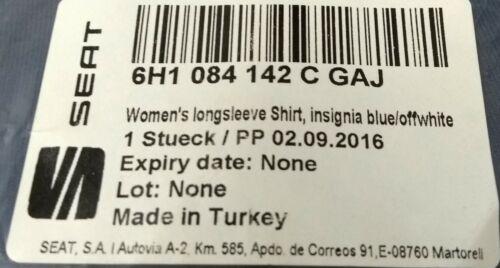 GENUINE SEAT MERCHANDISE LARGE WOMEN'S BLUE LONG SLEEVE T SHIRT