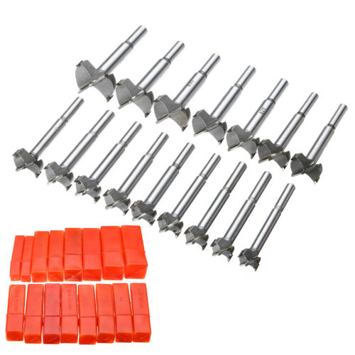 16 Pieces Forstner Drill Bits Cutter Kit Wood Boring Hole Saw Set Woodworking