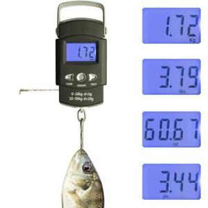 50kg Digital Travel Fish Luggage Postal Hook Electronic Scale Best Weighing C9M7