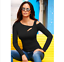 Women-Long-Sleeve-Cut-Out-Cold-Shoulder-Top-Ladies-Bodycon-Casual-T-Shirt-Blouse thumbnail 2