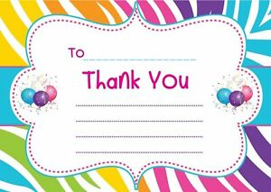 Image Is Loading CHILDREN 039 S BIRTHDAY THANK YOU LETTERS NOTES