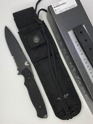 Benchmade 140SBK NIMRAVUS Fixed Blade Black Partially Serrated Edge