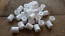 50 WHITE NYLON SCREW STUD FIXING CYLINDRICAL COLUMN SPACER CAR VAN PANEL 46501