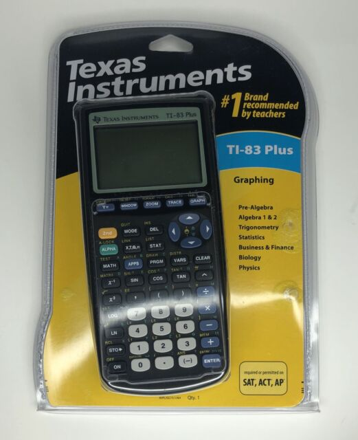 Factory Sealed Texas Instruments TI-83 Plus Graphing Calculator New Sealed