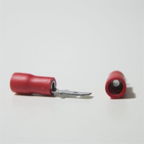 20 Kabelschuhe Flachstecker rot 2,8 x 0,5mm für 0,5-1,5mm² Kabelschuh Stecker